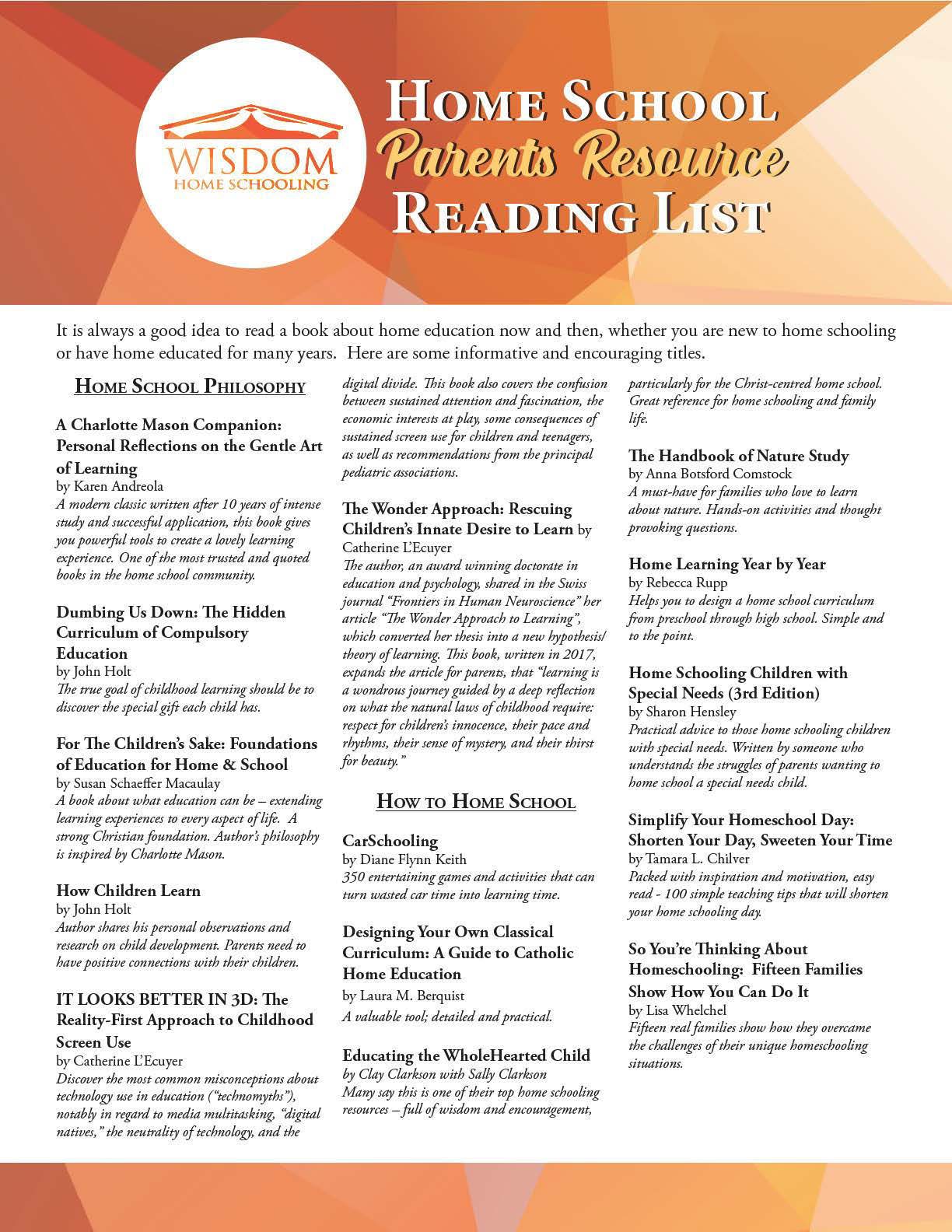 ParentReadingList Page 1