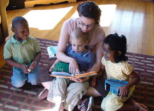 HS mom reading